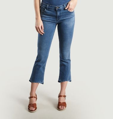 Jean Selena Mid-Rise Cropped Boot Cut