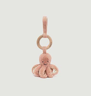 Odell Octopus Anneau en bois