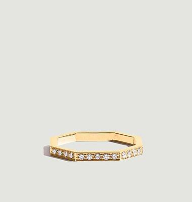 Bague Octogone Diamants