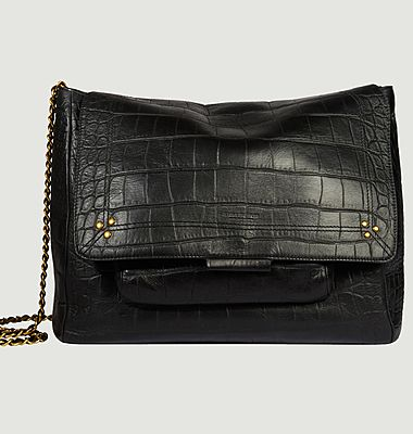 Lulu XL croco effect leather bag
