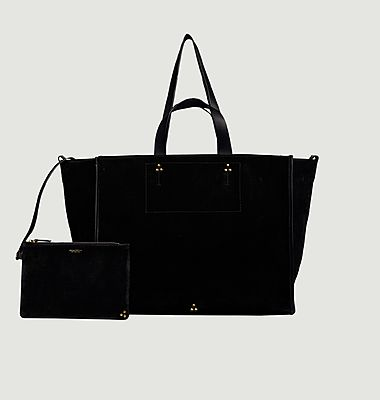 Léon L split leather tote bag