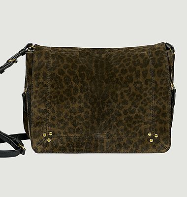 Igor leopard pattern split leather bag
