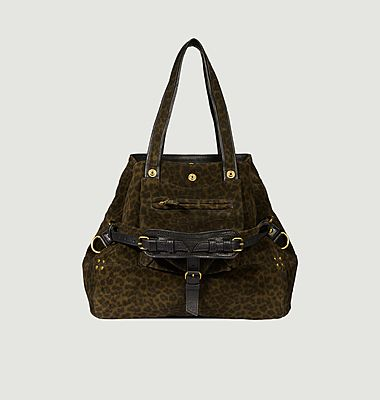 Billy leopard printed bag M