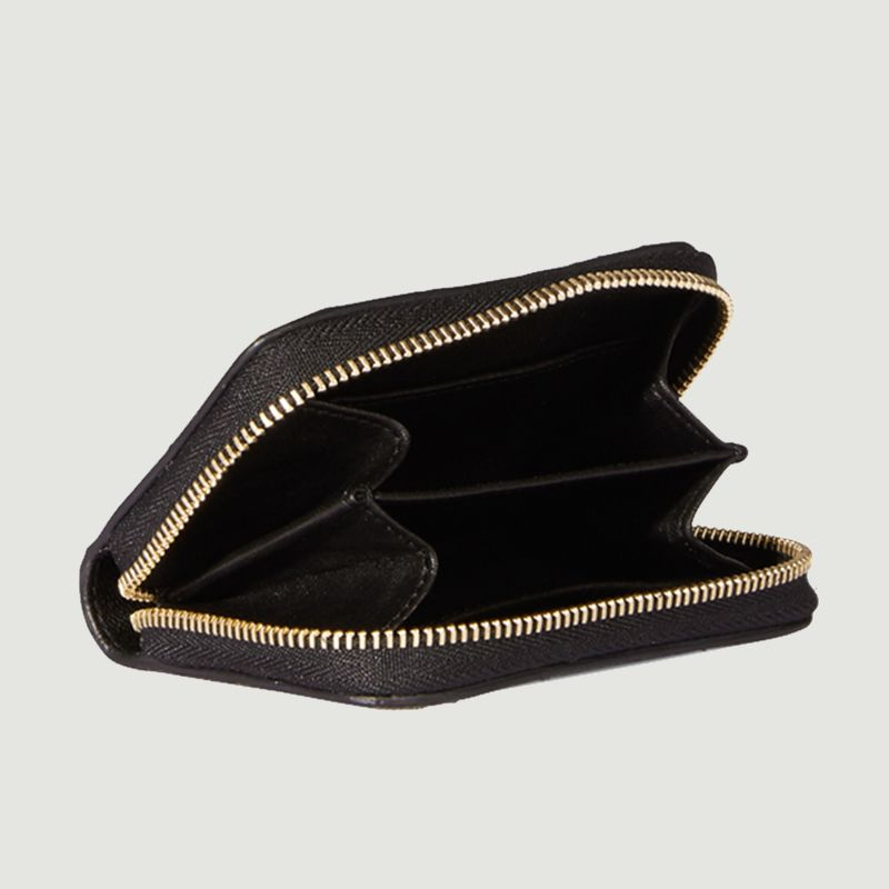 Porte-monnaie en croûte velours motif léopard Henri - Jérôme Dreyfuss