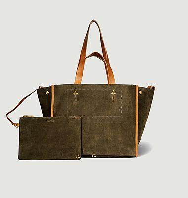Léon M split leather bag