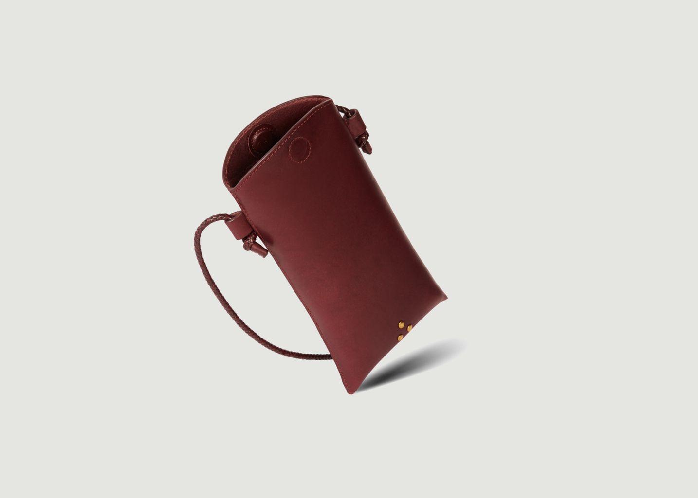 Pochette téléphone en cuir Louis - Jérôme Dreyfuss