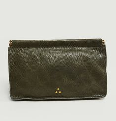 Clic Clac Leather Clutch