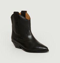 Boots Sabine en Cuir Lisse
