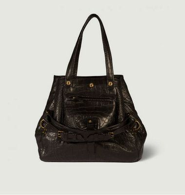 Billy M Croco Effect Leather Bag
