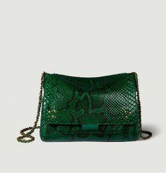 Lulu M Python Handbag