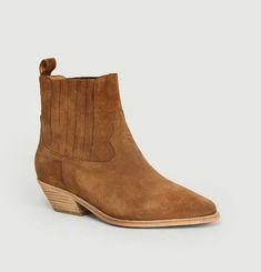 Boots en Cuir Suédé Edith