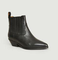 Boots En Cuir d'Agneau Edith