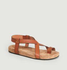 Sandales Plates En Cuir Ingrid