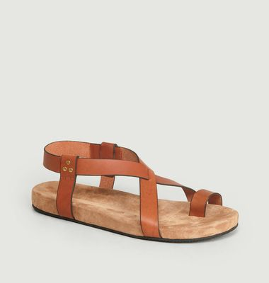 Ingrid Flat Leather Sandals