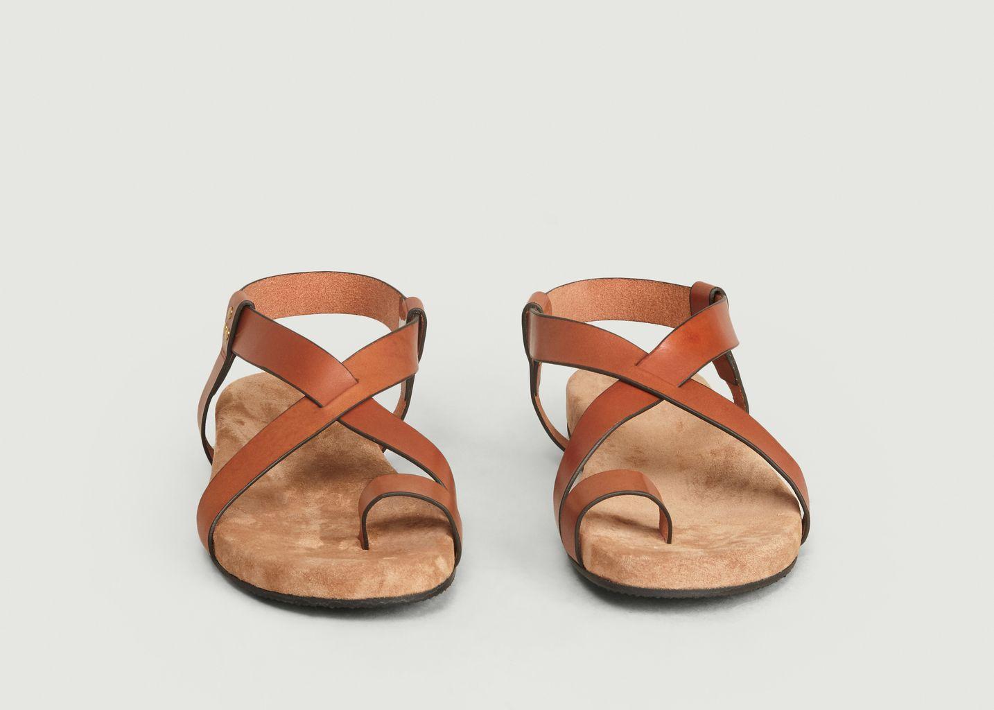 Sandales Aimon Cuir Plate Lauren Ralph Lauren doré pour