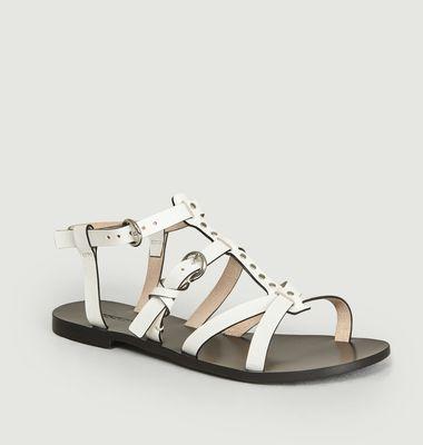 Sandales Plates Avec Studs Ulla