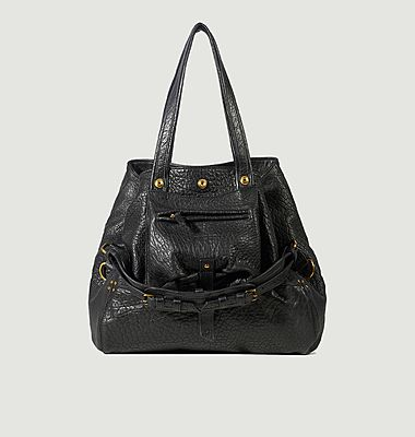 Billy M bubble lambskin leather bag