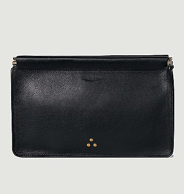 Clic Clac leather clutch L
