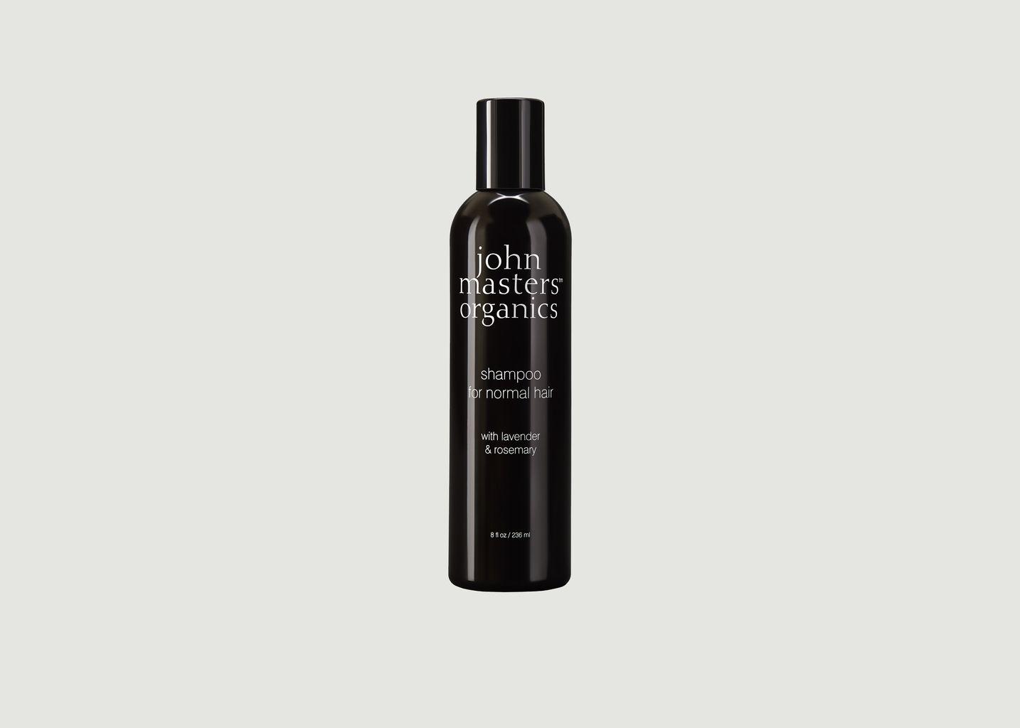 Shampoing cheveux normaux lavande et romarin - John Masters Organics