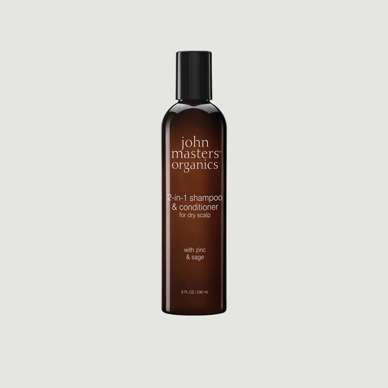 Shampoing et après-shampoing 2-en-1 zinc et sauge - John Masters Organics