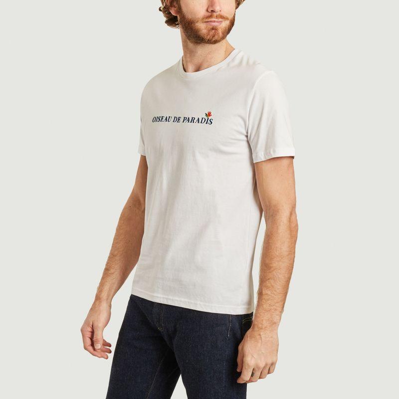 T-shirt brodé oiseau de paradis - Johnny Romance