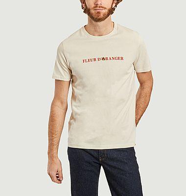 T-shirt brodé fleur d'oranger