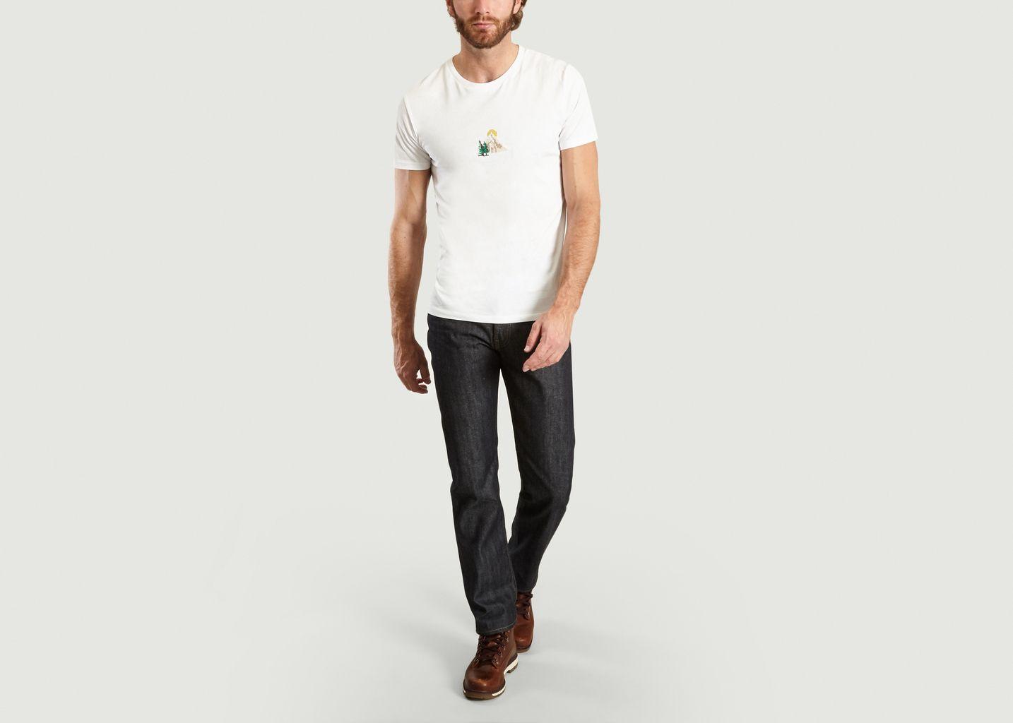 T-Shirt Montagne en Coton Biologique - Johnny Romance