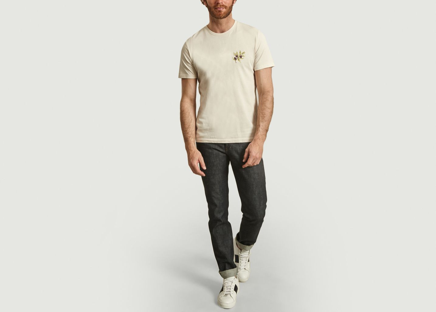 T-shirt Olives à broderie - Johnny Romance