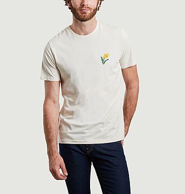 T-shirt en coton bio brodé Jonquille