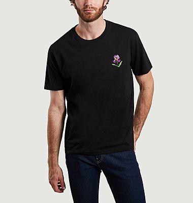 Iris organic cotton embroidered t-shirt