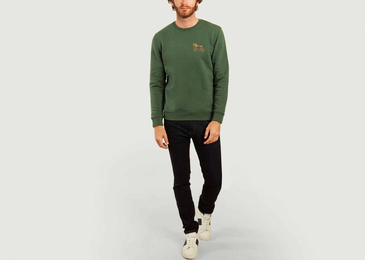 Sweatshirt brodé Vélo - Johnny Romance