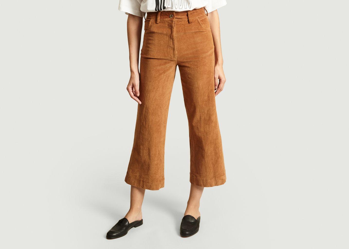 Pantalon 7/8e Flare En Velours Garance - Jolie Jolie