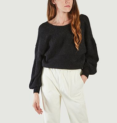 Eden wrap neckline sweater