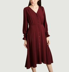 Robe Mi-Longue Boutonnée Léa