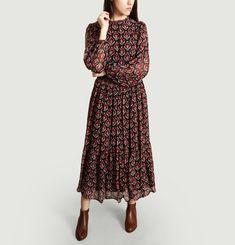 Robe Longue Motif Fleuri Amandine