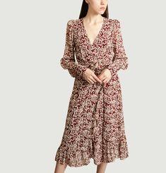 Robe Portefeuille Print Fleuri Amélie