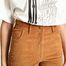 matière Pantalon 7/8e Flare En Velours Garance - Jolie Jolie