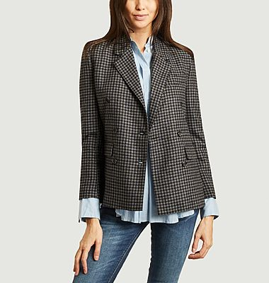Serena checked blazer
