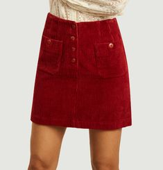 Iris corduroy mini skirt
