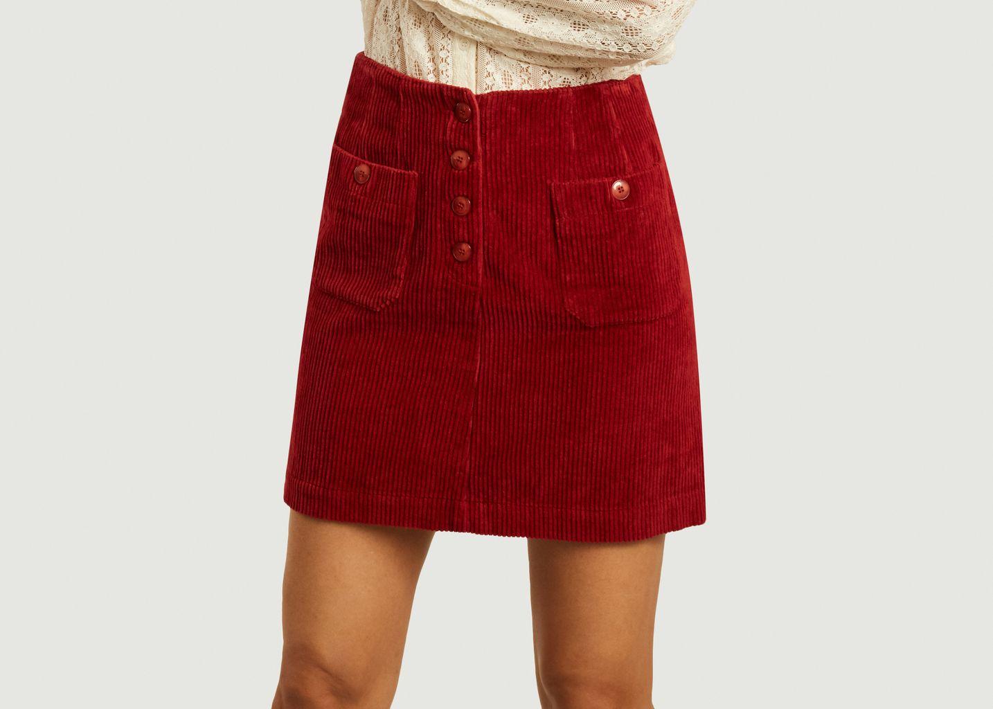 Mini jupe en velours côtelé Iris - Jolie Jolie