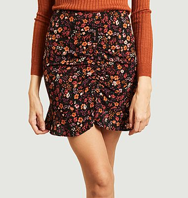 Claudia Gardenia flower print mini skirt