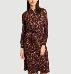 Robe-chemise midi imprimé fleuri Aurelia