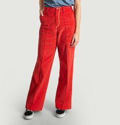 Pantalon Large Velours