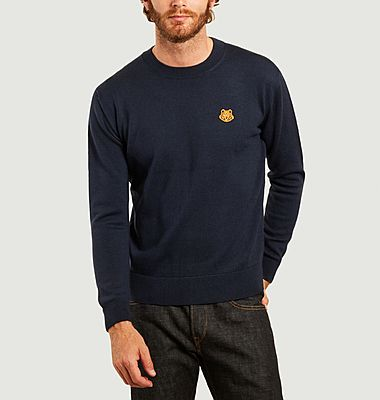 Tiger Crest wool logo sweater