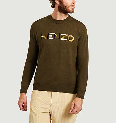 Pull logo en laine