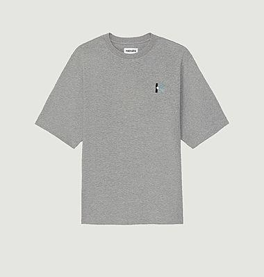 T-shirt oversize brodé logo K