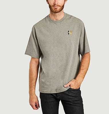 K logo embroidered oversized t-shirt