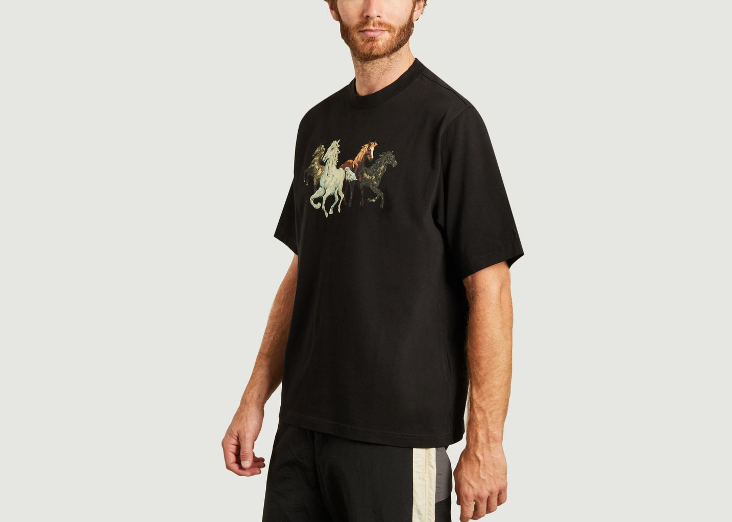 T-shirt en coton imprimé chevaux - Kenzo