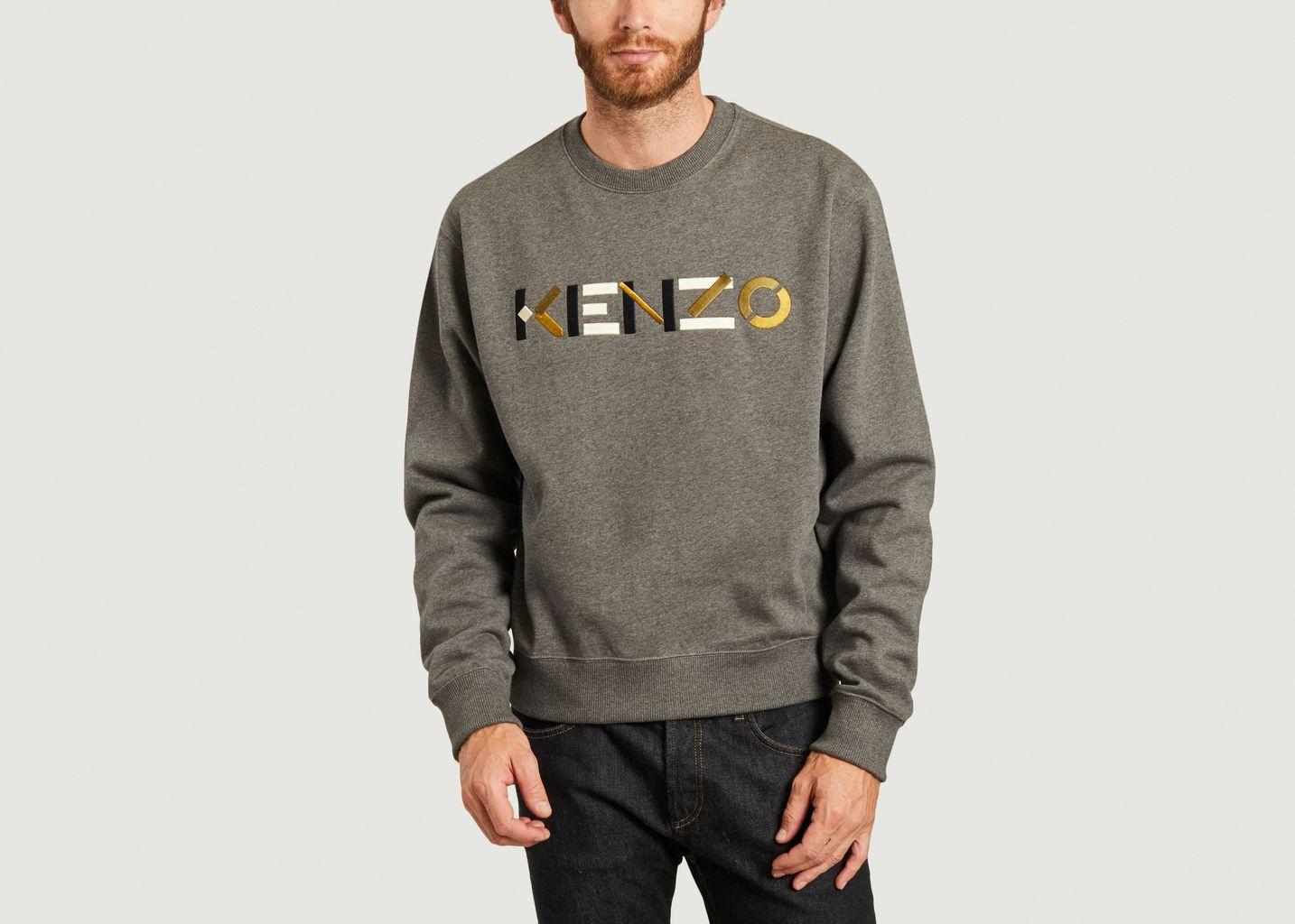 Sweatshirt logotypé brodé - Kenzo