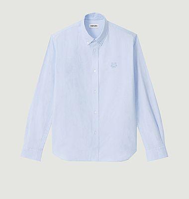 Chemise col boutonné siglée Tiger Crest